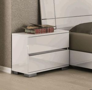 Status Dream Bedside In White High Gloss