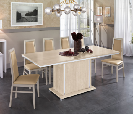 MCS Dover Cream  Extendable Dining Table.