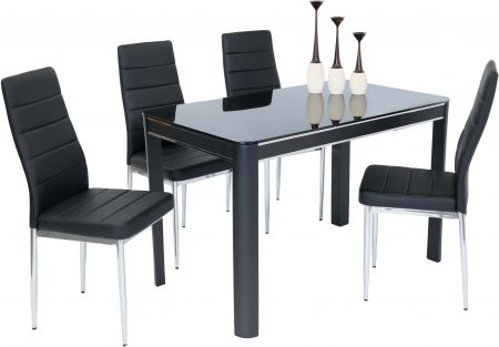 Morano Black Dining Table