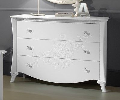 Tuttomobili Doris White Chest Of Drawers