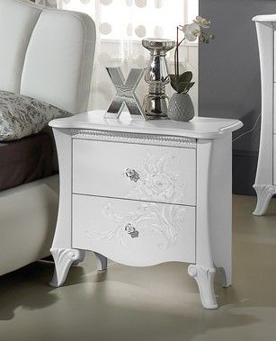 Tuttomobili Doris White Night Table