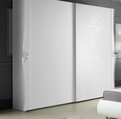 Tuttomobili Doris White 2 Door Sliding Wardrobe