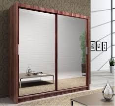 Queen Full Mirror Sliding Wardrobe With LED Light