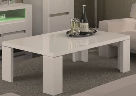 Status Elegance White High Gloss Coffee Table