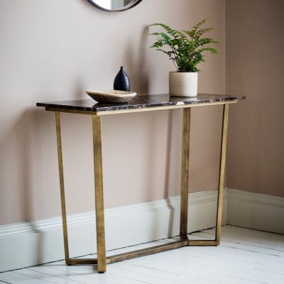 Hudson Living Emperor Console Table Marble