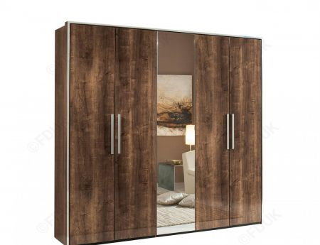 H2O Design Eva Oak Hinged Wardrobe