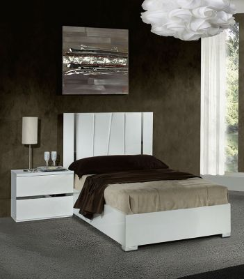 H2O Design Eva White Bed Frame