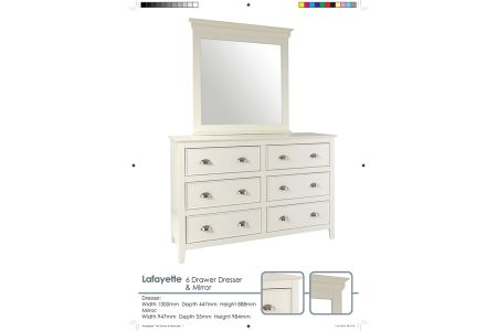 Lafayette Dressing Table With Mirror