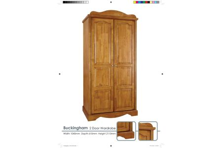 Buckingham Solid Oak 2 Door Robe