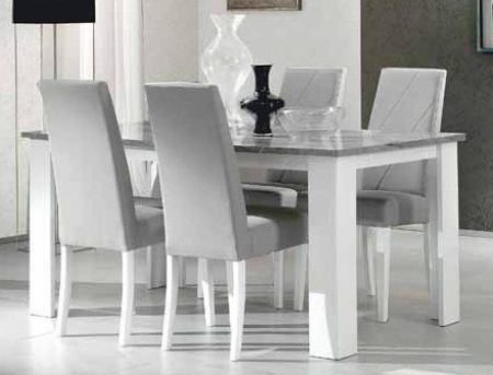 Ben Company Stella White-Grey Dining Table
