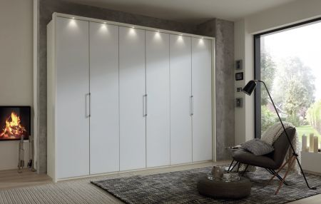 Weimann Glasgow Combi wardrobes with Handles and trims in silver