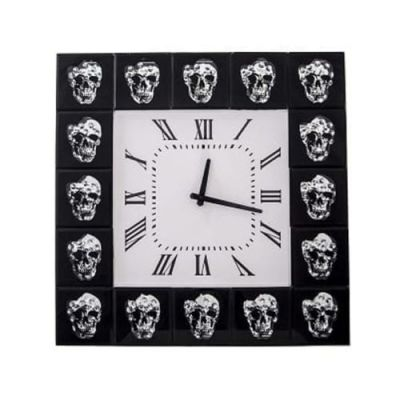 Floating Crystal Skull Wall Clock