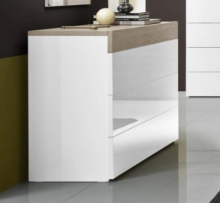 Tuttomobili Gessy Oak/White Chest Of Drawers