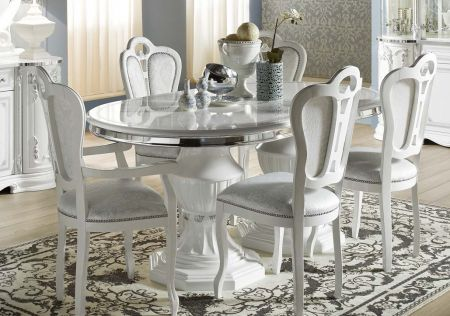 Tuttomobili Greta White Oval Extendable Table