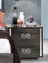 MCS Dover Grey Bedside Table