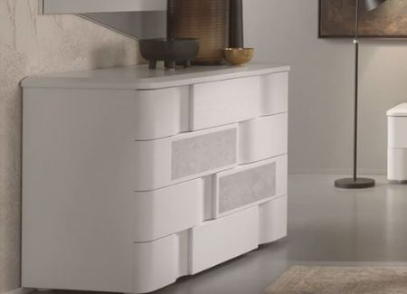Euro Design Levante Grigio 4 Drawer Chest