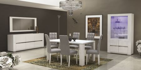 Status Elegance White High Gloss Dining Table
