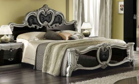 Camel Barocco Italian Leather Bed