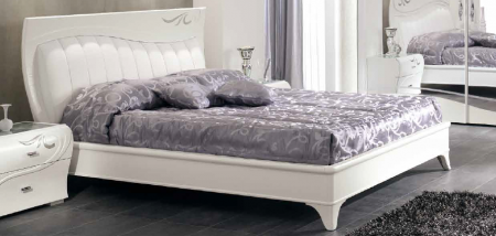 Saltarelli Diadema Upholstered storage bed with Head and Sides.
