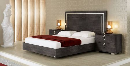 Status Sarah Grey Birch Italian Bed Frame