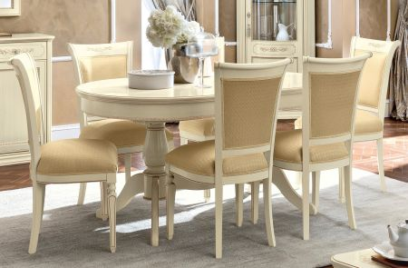 Camel Group Torriani Ivory Oval Table With 2 Extensions