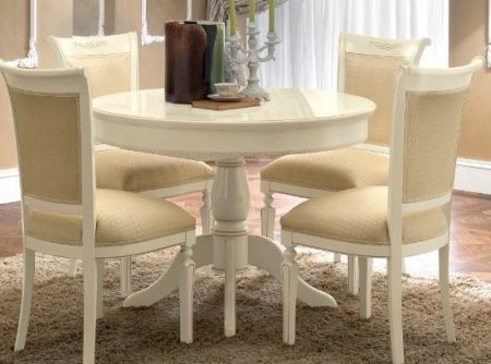 Camel Group Torriani Ivory Round Table With 1 Foldable Extension
