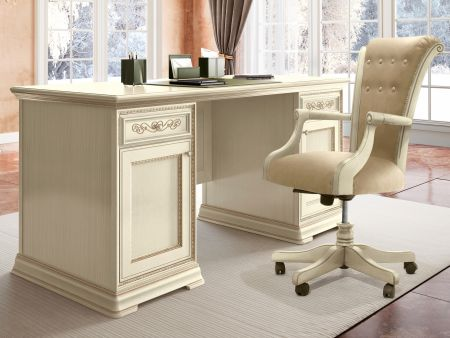 Camel Group Torriani Ivory Writing Desk With 2 Doors