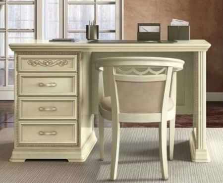Camel Group Torriani Ivory Writing Desk With Drawers