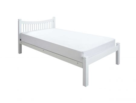 Jordan White hardwood Bed Frame