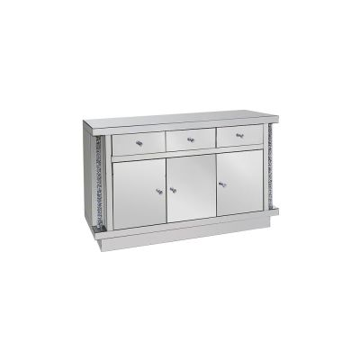 London 3 Door Cabinet With Diamond Crush