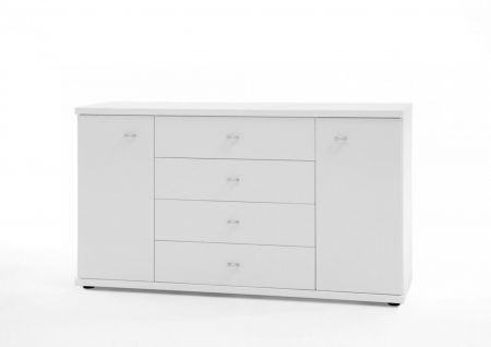 WIEMANN Miro Combination dresser with 4 large drawers in White finish