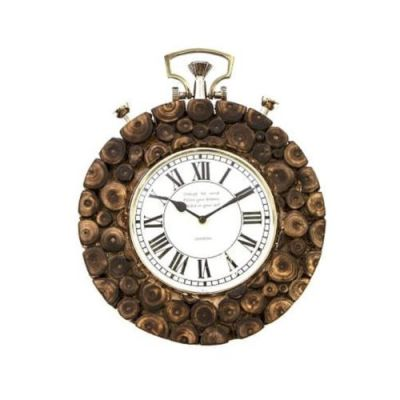 Vintage Look Wooden Wall Clock