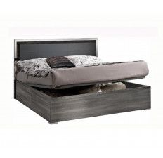 MCS Oxford Grey High Gloss Storage Bed Frame