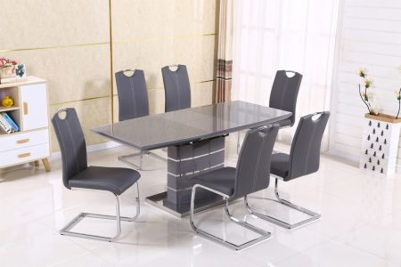 Milan Grey Extending Dining Table