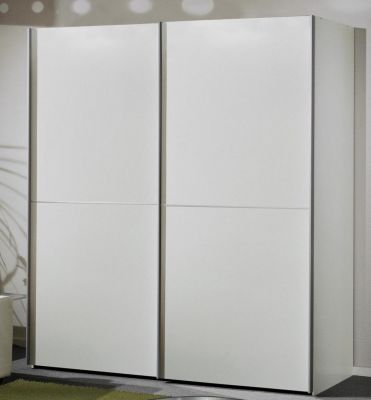 WIEMANN Miami 2 doors Sliding Wardrobe with Front in White Doors with 2 Front Panels