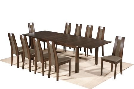 Michigan Extendable Dining Set With Eight Chairs