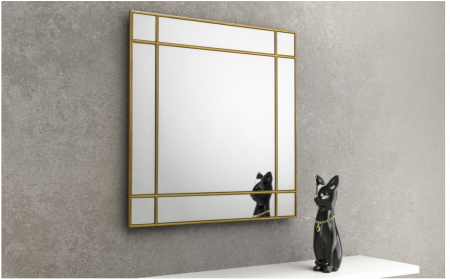 JULIAN BOWEN FORTISSIMO GOLD SQUARE WALL MIRROR