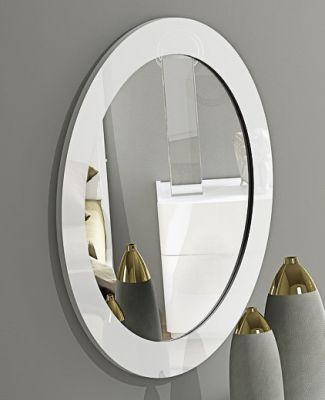 Eleanor White High Gloss Mirror