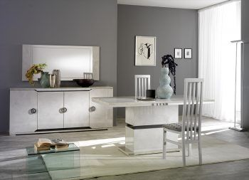 San Martino Mistral High Gloss Dining Table With Six Chairs