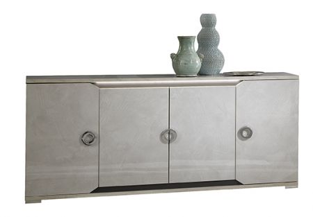 San Martino Mistral High Gloss 4 Door Sideboard With LED Light