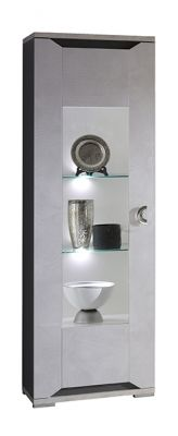 San Martino Mistral High Gloss 1 Door Glass Display Cabinet With LED