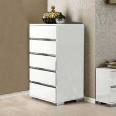 Status Dream Tall Chest In White High Gloss