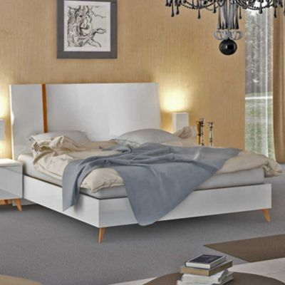 Status Vega Italian White High Gloss Bed Frame