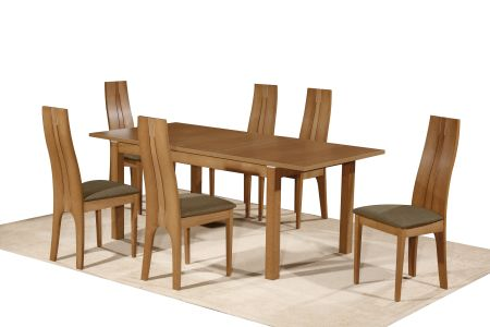 Nevada Extendable Dining Set With Six Chairs