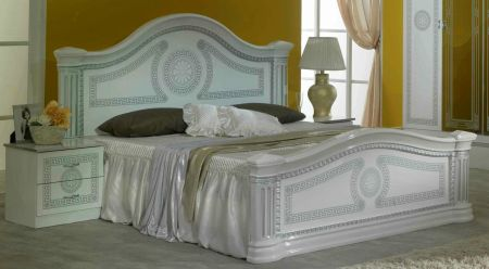 Ben Company New Serena White & Silver Bed