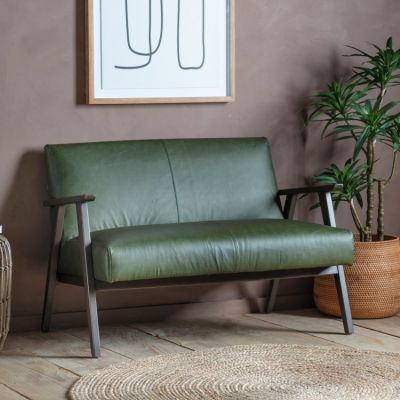 Hudson Living Neyland 2 Seater Sofa Heritage Green Leather