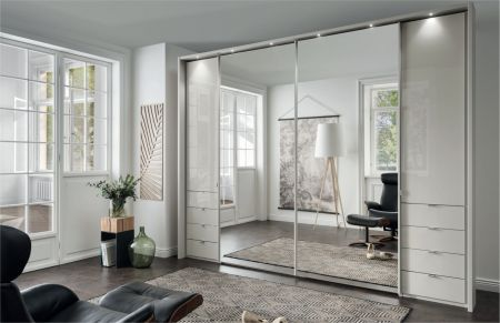 Weimann VIP Nizza Hinged and Sliding-door wardrobes with Handles in chrome