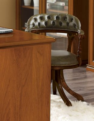 Camel Group Nostalgia Green Eco Leather Chair For Writing Desk