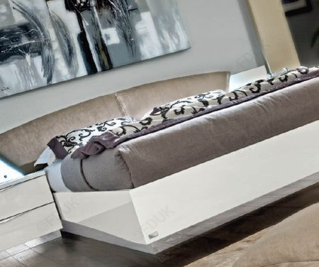 Camel Group Letto Onda White High Gloss Bed Frame