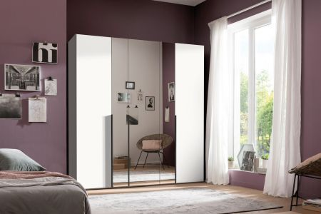 Express Mobel ONE 210 Hinged Wardrobe Decor With Mirror